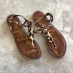 Sam Edelman Gigi T strap sandals Leopard Calfhair
